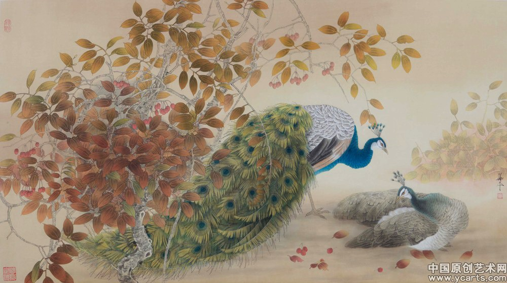 2008年发行在明信片《奥运年当代艺术名家精品系列·中国工笔画名家