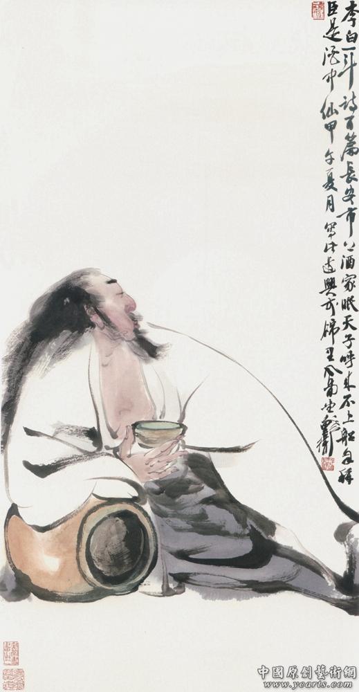 戴卫《李白醉酒》-戴卫官方网站-中国原创艺术网