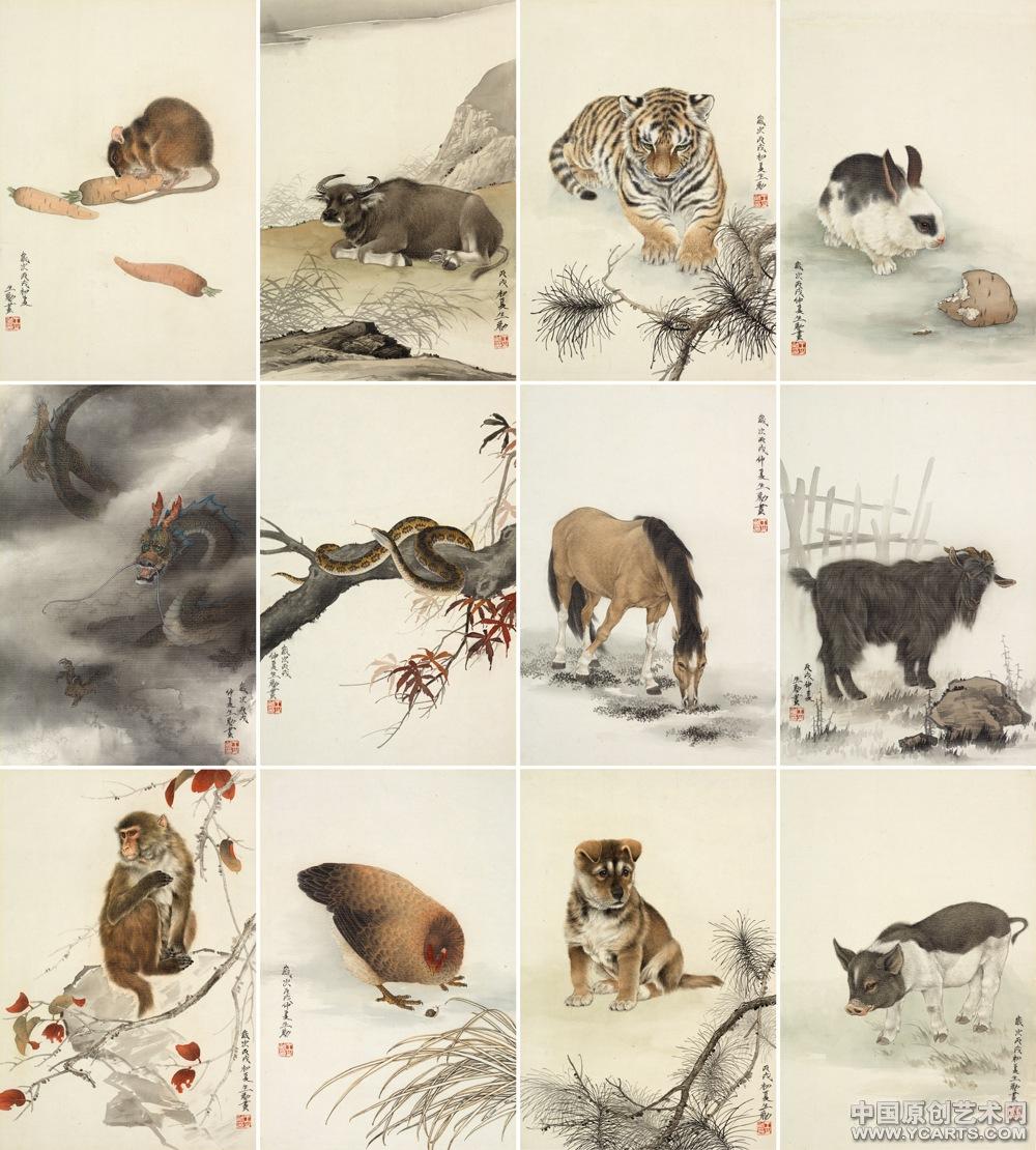 王申勇《十二生肖之二》大图-工笔动物-中国原创艺术