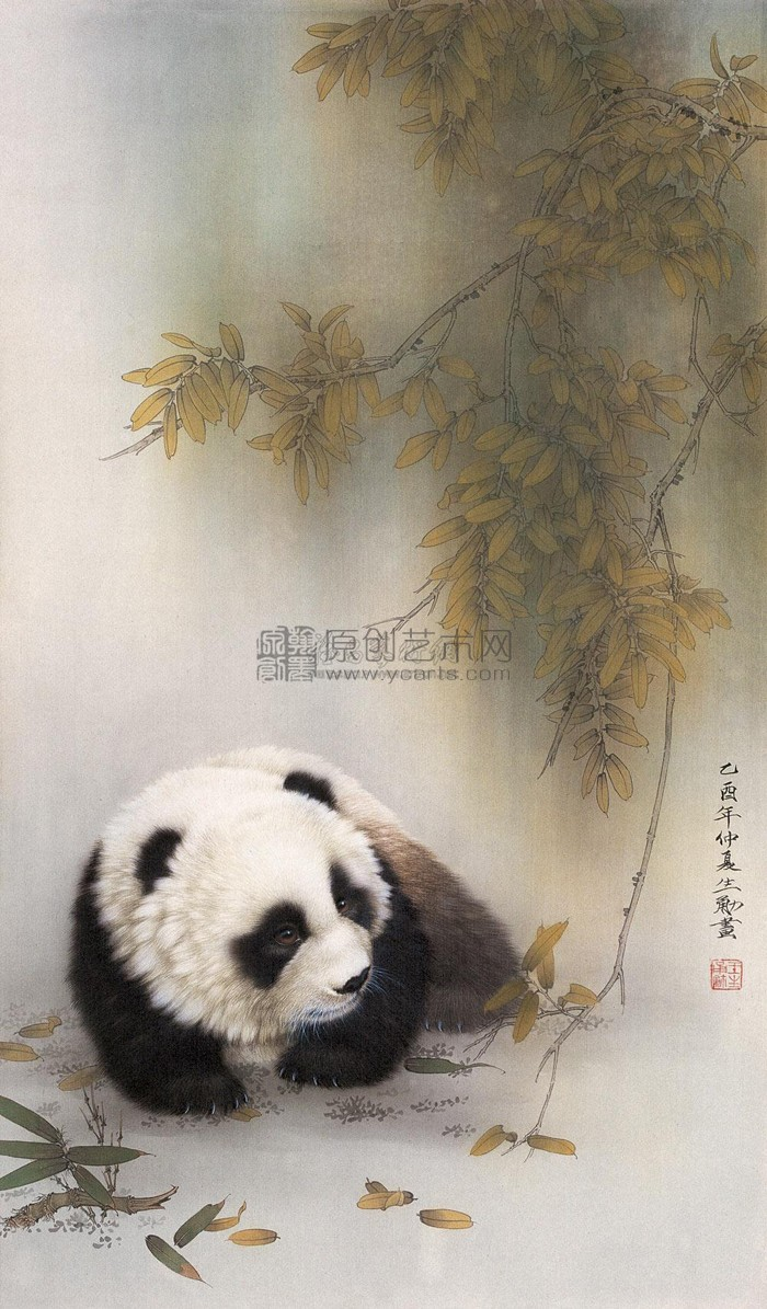 功夫熊猫 仙鹤写字