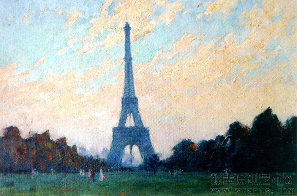 高玠瑜《巴黎埃菲尔铁塔之晨》