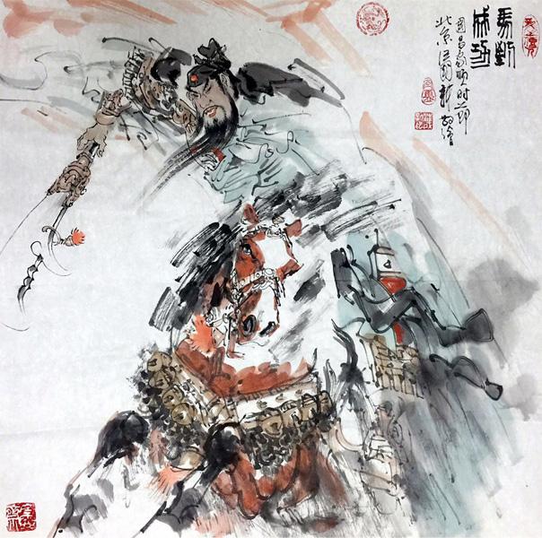 红军黑白插画手绘