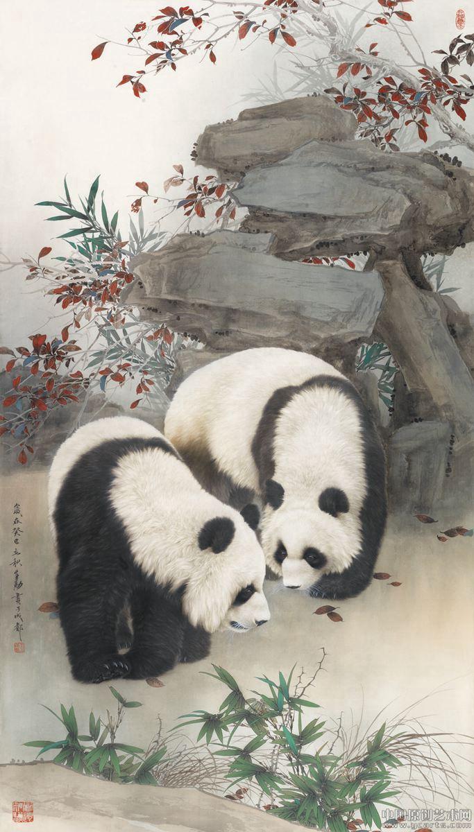 壁纸 大熊猫 动物 683_1200 竖版 竖屏 手机