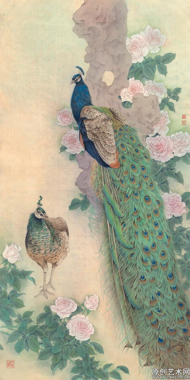 陈军,中国美术家协会会员,中国工笔画学会会员,中国工笔重彩画